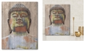 """Courtside Market Wooden Painted Buddha Gallery-Wrapped Canvas Wall Art - 16"""" x 20"""""""
