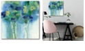 """Courtside Market Birch In Blues Gallery-Wrapped Canvas Wall Art - 16"""" x 16"""""""
