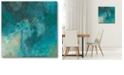 """Courtside Market Azure IV Gallery-Wrapped Canvas Wall Art - 16"""" x 16"""""""