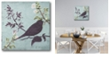 """Courtside Market floral bird triptych Gallery-Wrapped Canvas Wall Art - 16"""" x 16"""""""