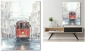 """Courtside Market Watercolor Streetcar Study I Gallery-Wrapped Canvas Wall Art - 16"""" x 20"""""""