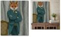 "Courtside Market Fox Victorian Gentleman Portrait Gallery-Wrapped Canvas Wall Art - 16"" x 20"""