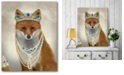 """Courtside Market Fox with Tiara Portrait Gallery-Wrapped Canvas Wall Art - 16"""" x 20"""""""