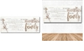 """Courtside Market We are Family Gallery-Wrapped Canvas Wall Art - 12"""" x 30"""""""