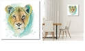 """Courtside Market Chromatic Cats I Gallery-Wrapped Canvas Wall Art - 16"""" x 16"""""""