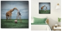 """Courtside Market Cotton Candy Gallery-Wrapped Canvas Wall Art - 16"""" x 16"""""""