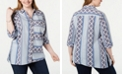 NY Collection Plus Size Southwestern-Print Shirt