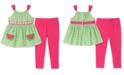 Kids Headquarters Baby Girls 2-Pc. Striped Tunic & Leggings Set