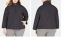 Eileen Fisher Plus Size Organic Cotton Stand-Collar Pullover Jacket