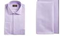 Tasso Elba Men's Classic/Regular-Fit Non-Iron Supima Cotton Herringbone Solid French Cuff Dress Shirt, Created for Macy's