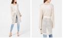 INC International Concepts I.N.C. Metallic Open-Knit Long Cardigan, Created for Macy's