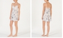 INC International Concepts I.N.C. Flower-Print Lace Bodice Chiffon Chemise Nightgown, Created for Macy's