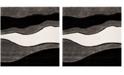 "Safavieh Shag Gray and Black 6'7"" x 6'7"" Square Area Rug"
