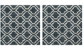 Safavieh Hudson Slate Blue and Ivory 7' x 7' Square Area Rug