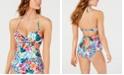 SUNDAZED Spring Fling Cutout Tankini Top, Created for Macy's