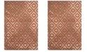 Safavieh Porcello Light Gray and Orange 10' x 14' Area Rug