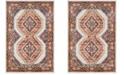 Safavieh Bijar Ivory and Rust 4' x 6' Area Rug
