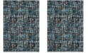 """Safavieh Porcello Charcoal and Blue 6'7"""" x 9' Area Rug"""