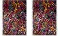 Safavieh Fiesta Fuchsia and Multi 4' x 6' Area Rug