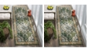 "Safavieh Monaco Forest Green and Light Blue 2'2"" x 6' Runner Area Rug"