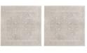 "Safavieh Reflection Light Gray and Cream 6'7"" x 6'7"" Square Area Rug"