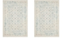 """Safavieh Passion Turquoise and Ivory 6'7"""" x 6'7"""" Square Area Rug"""