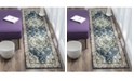 "Safavieh Monaco Navy and Light Blue 2'2"" x 12' Runner Area Rug"