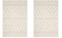 Safavieh Berber Shag Cream and Light Gray 6' x 9' Area Rug