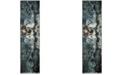 "Safavieh Glacier Blue and Multi 2'2"" x 10' Runner Area Rug"