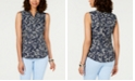 Charter Club Petite Wesley Floral-Print Top, Created for Macy's