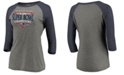 Majestic Women's New England Patriots Super Bowl LIII Champ Neutral Zone Raglan T-Shirt