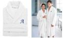 Linum Home 100% Turkish Cotton Personalized Unisex Herringbone Bath Robe Collection
