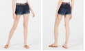 Dollhouse Juniors' Belted Denim Shorts