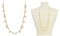 """INC International Concepts INC Gold-Tone Bead & Flower Strand Necklace, 36"""" + 3"""" extender"""