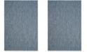 "Safavieh Courtyard Navy and Gray 6'7"" x 9'6"" Sisal Weave Area Rug"