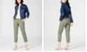 Maison Jules V-Neck T-Shirt, Denim Jacket & Slim Ankle Pants, Created for Macy's