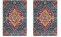 Safavieh Madison Blue and Fuchsia 6' x 9' Area Rug