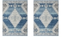 "Safavieh Madison Navy and Creme 2'3"" x 12' Runner Area Rug"