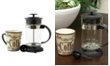 Gibson Mr. Coffee Cafeacute Oasis 2 Piece Glass Coffee Press and Mug Gift Set