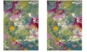 Safavieh Watercolor Green and Fuchsia 9' x 12' Area Rug