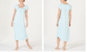 Miss Elaine Cottonessa Stripe-Print Knit Long Nightgown