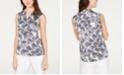 Nine West Printed Sleeveless Blouse