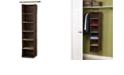 Household Essentials Coffee Linen 6-Shelf Closet Organizer