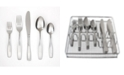 Cambridge Madison Satin 60-Piece Flatware Set with Chrome Buffet, Service for 12