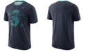 Nike Men's Seattle Mariners Dry Slub Stripe Logo T-Shirt