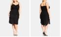 City Chic Trendy Plus Size Twist-Front Dress