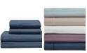 Elite Home Cooling Cotton Satin Stripe California King Sheet Set