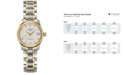 Longines Women's Swiss Automatic Master Diamond Accent 18k Gold and Stainless Steel Bracelet Watch 26mm L21285777