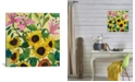"""iCanvas """"Sunflowers and Lilies"""" By Kim Parker Gallery-Wrapped Canvas Print - 18"""" x 18"""" x 0.75"""""""