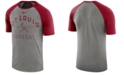 Nike Men's St. Louis Cardinals Dry Slub Short Sleeve Raglan T-Shirt